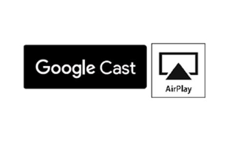 Беспроводное воспроизведение аудио с помощью Google Cast™ и AirPlay