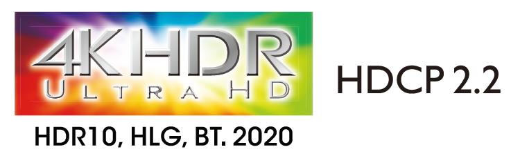 Поддержка видео 4K HDR, BT.2020, 4K/60 Hz и HDCP 2.2