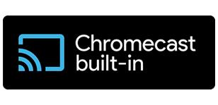 Легкий стриминг музыки с помощью встроенного* Chromecast